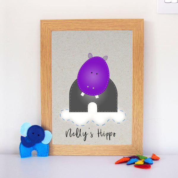 Personalised Hippo Artwork