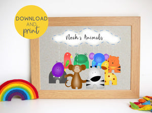 Jungle Animals Artwork Printable