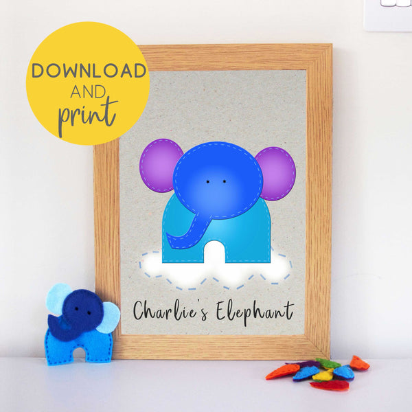 Elephant Nursery Printable