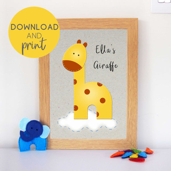 Giraffe Art Printable
