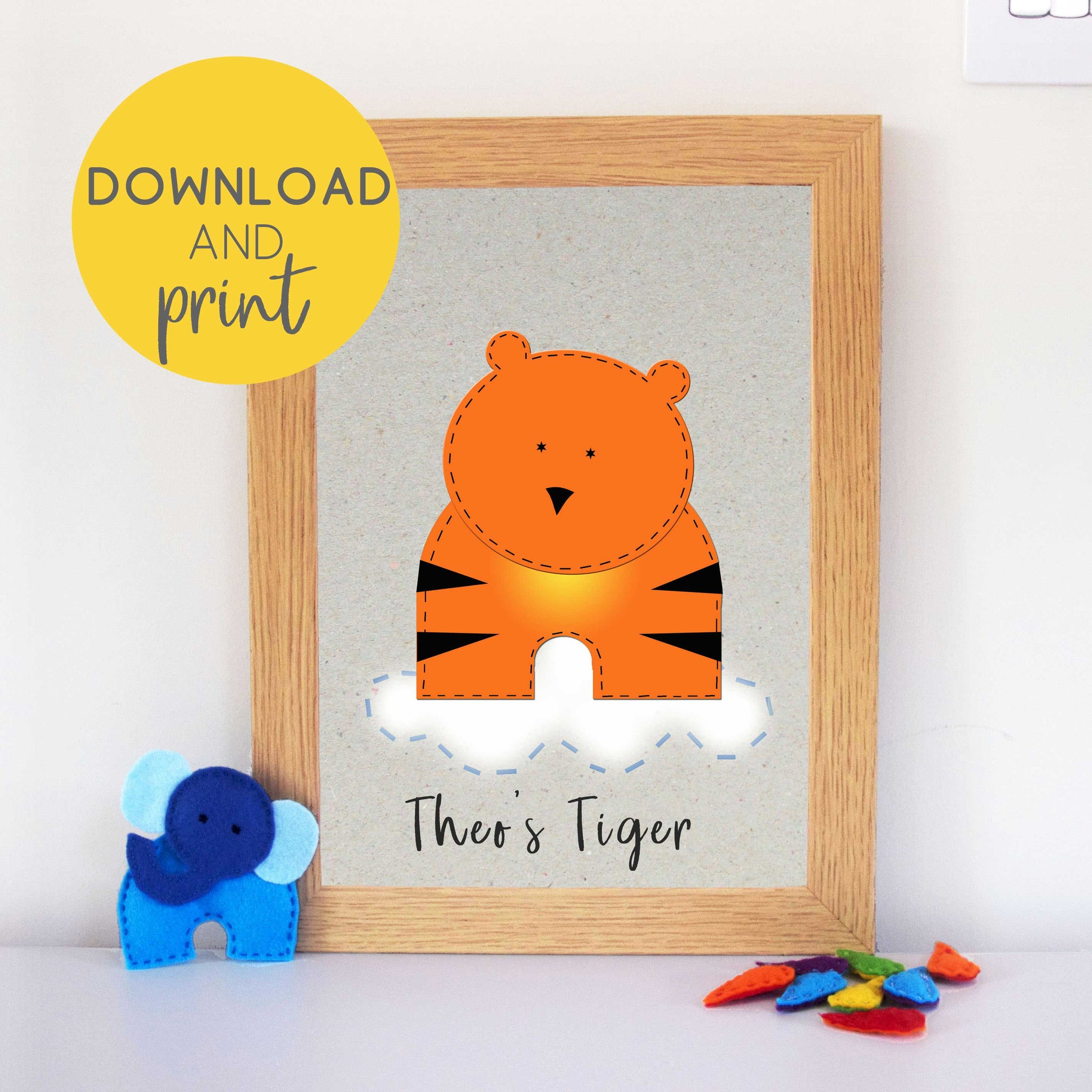 Tiger Wall Art Printable