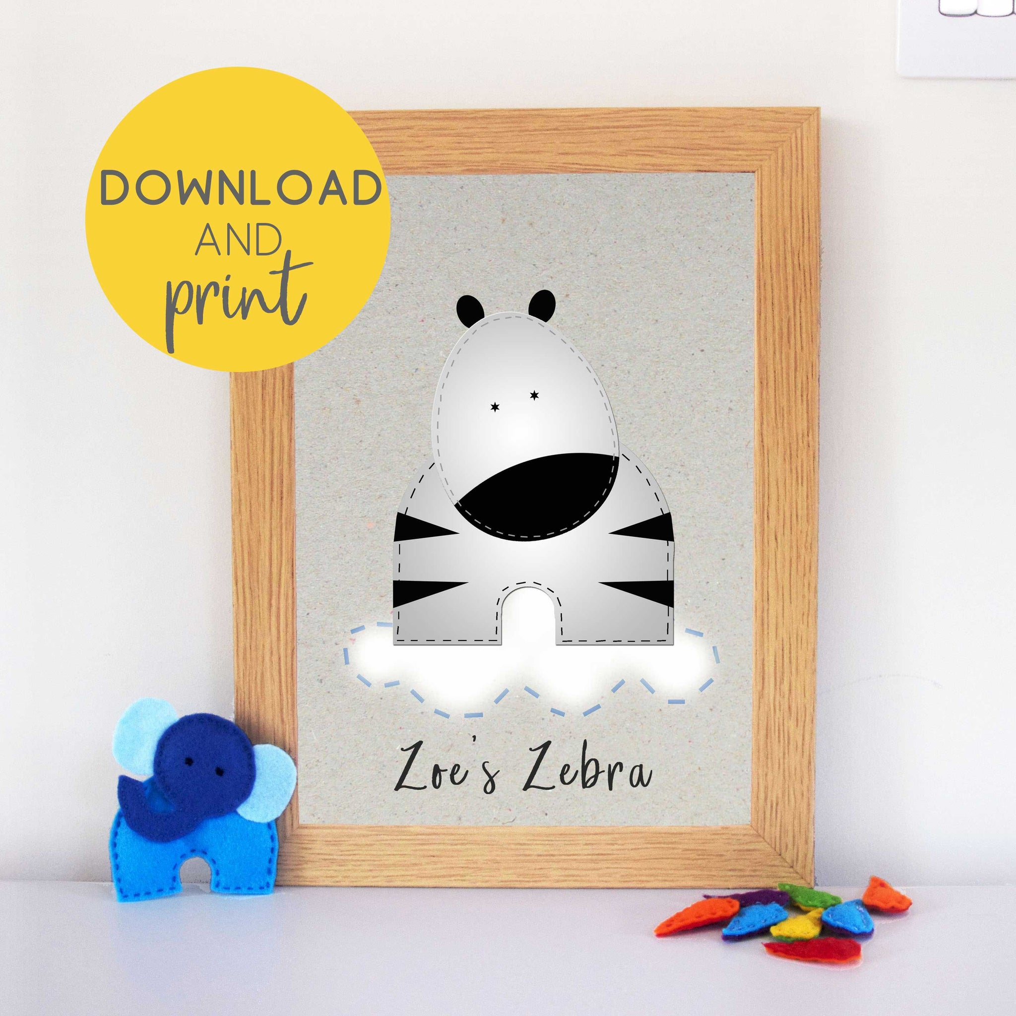 Printable Zebra Nursery Art