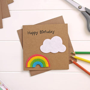 Rainbow Cloud Card for Children