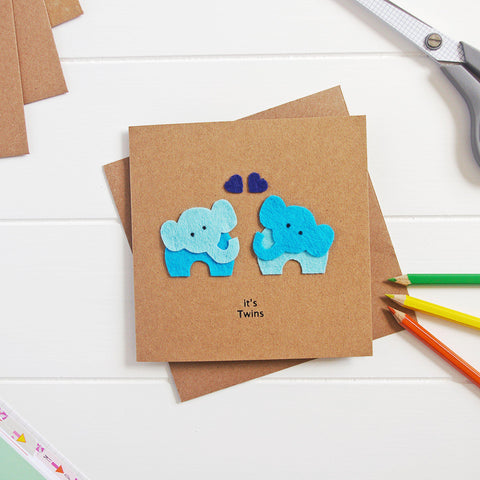 Baby Twin Boys Card