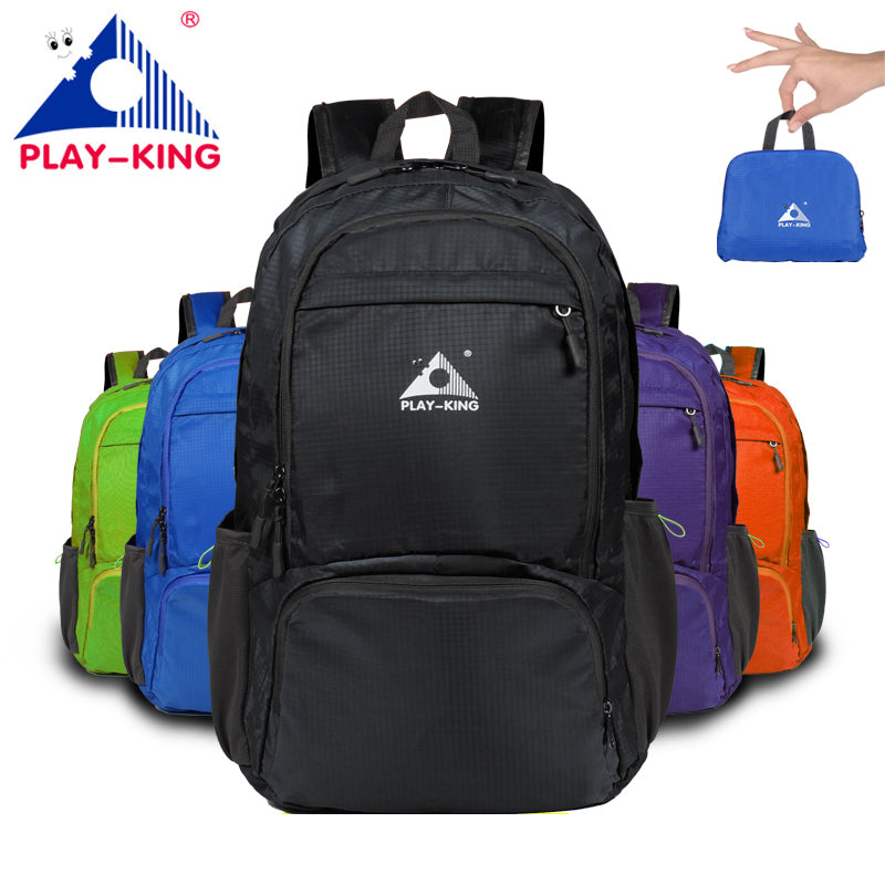 fab643bf9ee0 PLAYKING Nylon Foldable Backpack Waterproof Ultralight Outdoor Travel Sport  Hiking Bag 30L 40L