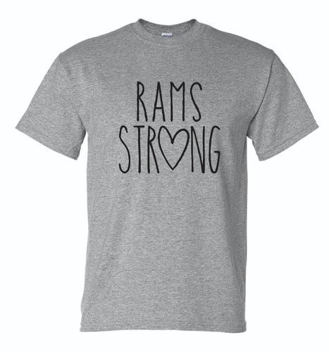 Riverdale PTO - Ladies' Rams Strong Short Sleeve T-shirt