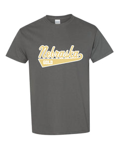 "Nebraska Gold - ""Swoosh"" Short Sleeve T-Shirt"