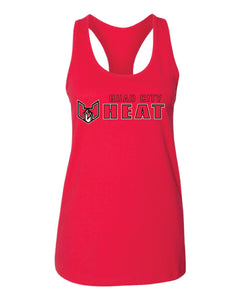 "Quad City Heat - ""Horizontal Logo"" Racerback Tank Top"