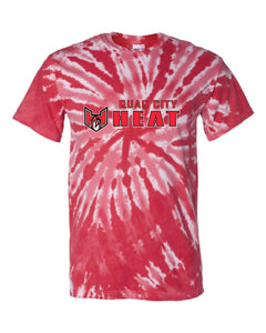"Quad City Heat ""Horizontal Logo"" Red Tie-Dye Short Sleeve T-Shirt"