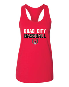 "Quad City Heat - ""Stacked Logo"" Racerback Tank Top"