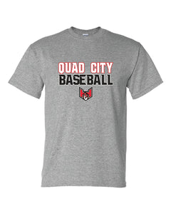 "Quad City Heat - ""Stacked Logo"" Short Sleeve T-Shirt"