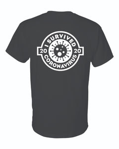Riley's Roadhouse's - I survived Coronavirus 2020 Short Sleeve T-shirt - small front logo