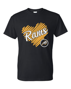 "Riverdale PTO - ""Rams Golden Heart"" Short Sleeve T-Shirt"