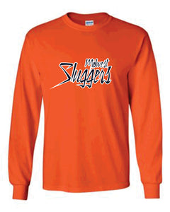 Midwest Sluggers Crew-neck Long sleeve T-shirt - Orange