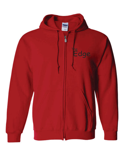 The  Edge - Adult Full Zip Hoodie, Red