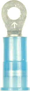 Ring Terminal - Vinyl Insulated  - Blue -16-14 Gauge