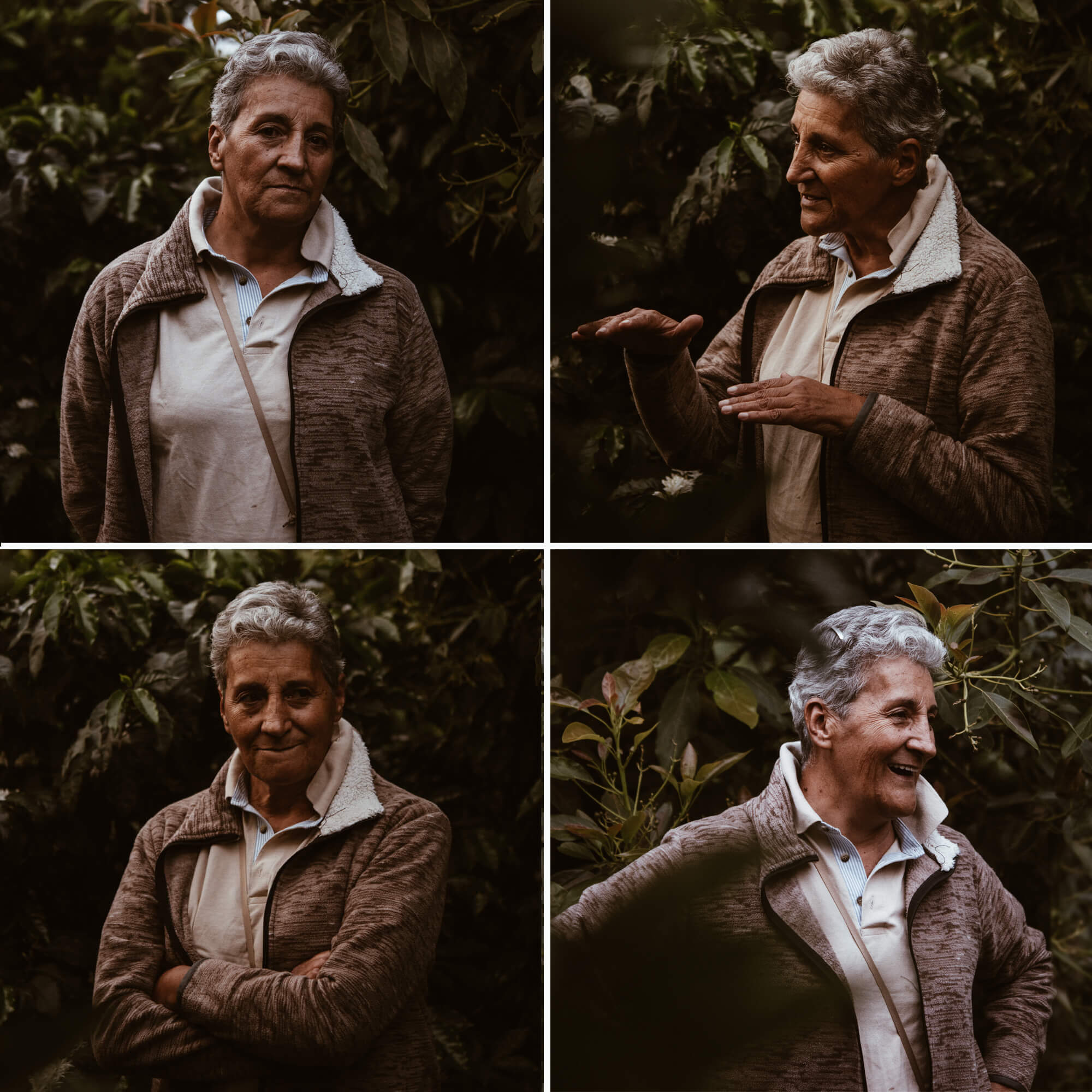 Woman coffee farmer in Colombia.