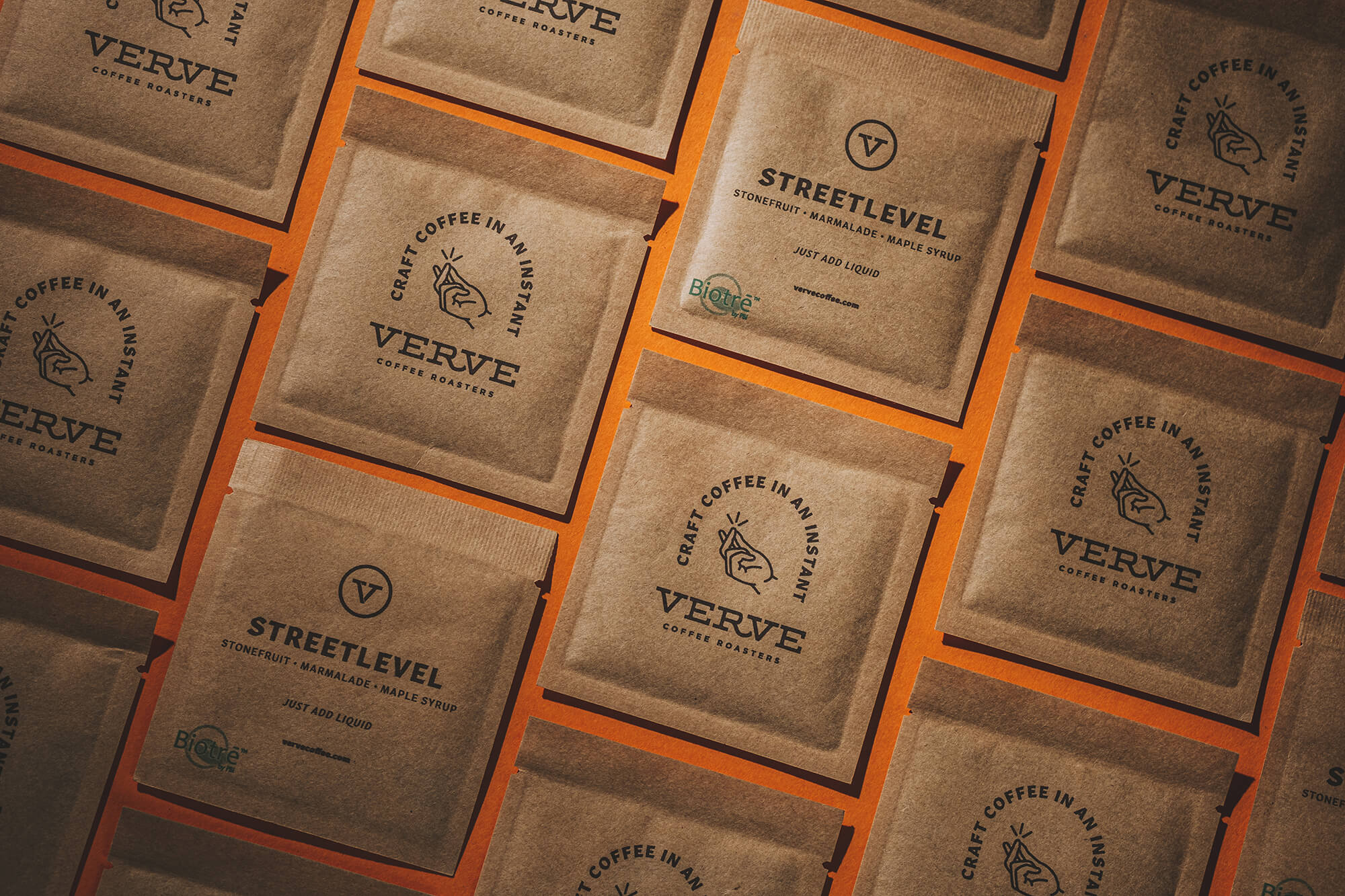Verve instant craft coffee packets