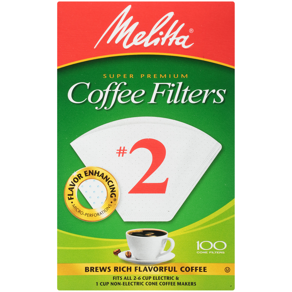 Melitta Cone #2 Coffee Filters