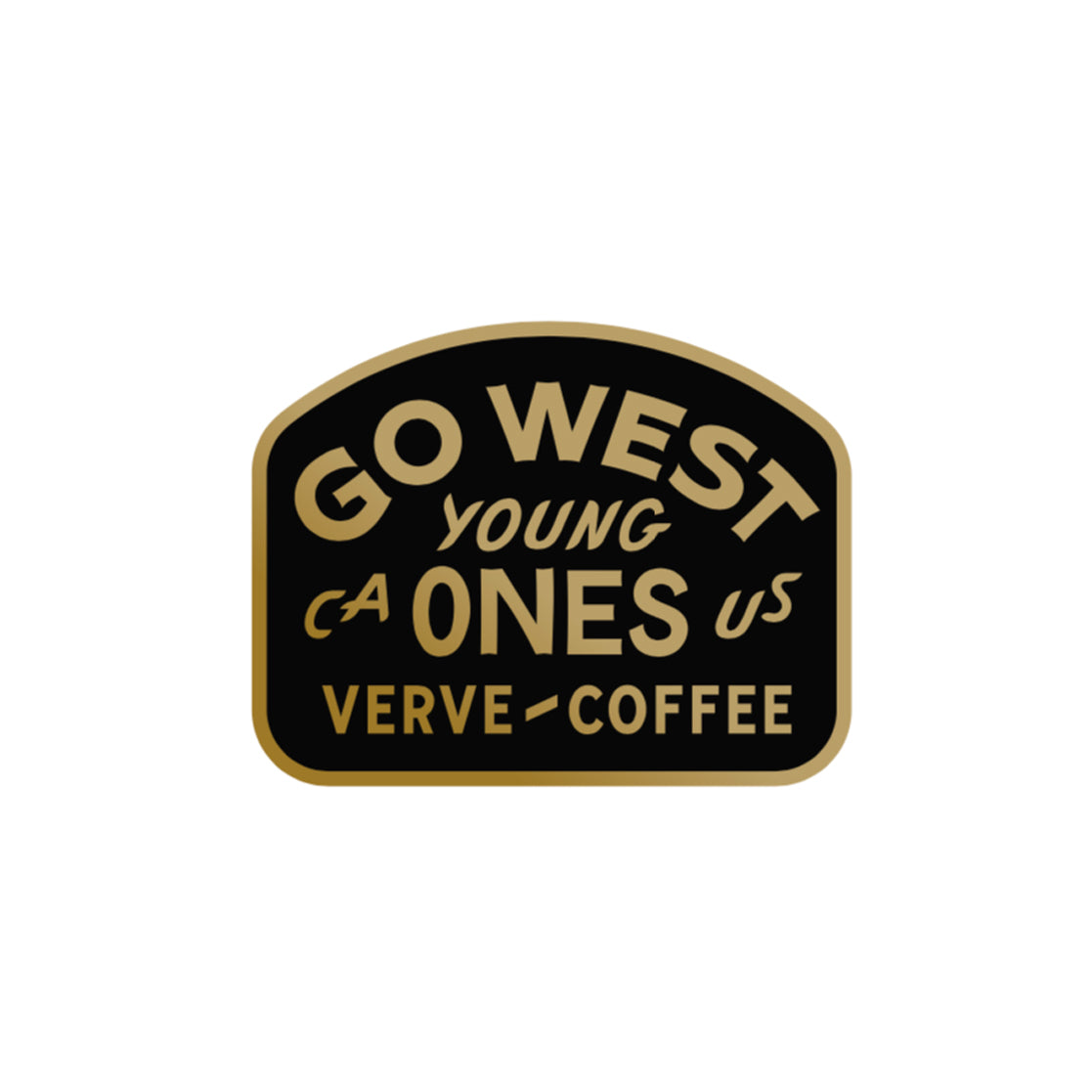 Go West Enamel Pin