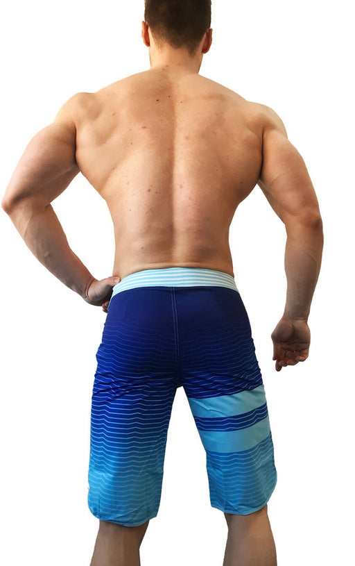 ShowdayShop Blue Stripe Boardshorts