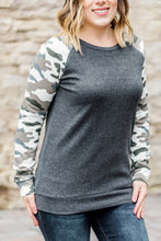 Load image into Gallery viewer, Camo Sleeve Pullover