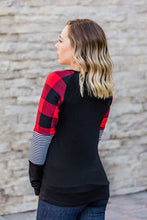 Load image into Gallery viewer, Stripes and Plaid Long Sleeve Top