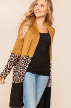 Load image into Gallery viewer, Leopard Color block Cardigan