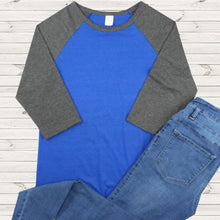 Load image into Gallery viewer, The Classic Raglan Tee in Blue