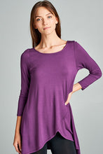 Load image into Gallery viewer, Behind My Back Tunic in Purple