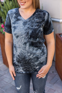 Classic Pocket Tee with V-Neck - Slate