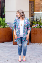 Load image into Gallery viewer, Teal Floral Kimono