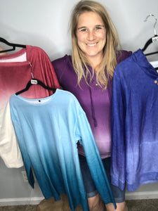 Ombre Long Sleeved Shirts
