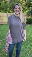 Load and play video in Gallery viewer, Fall Days Asymmetrial Tunic in Walnut Brown