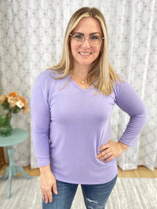Ready for the Day Top in Lavender