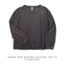 Load image into Gallery viewer, Warm for the Winter Lounge Top in Charcoal