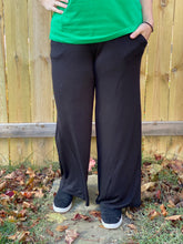 Load image into Gallery viewer, Simply Styled Smocked Waist Lounge Pants in Black