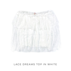 Lace Dreams Top in White