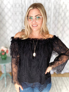 Lace Dreams Top in Black