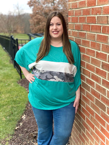 DOORBUSTER Pave Your Own Way Top in Turquoise
