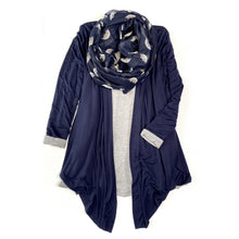 Load image into Gallery viewer, Under My Umbrella Infinity Scarf in Navy