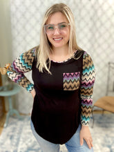 Load image into Gallery viewer, Chic in Chevron Top