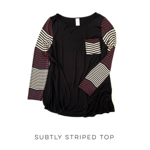 Subtly Striped Top