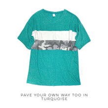 Load image into Gallery viewer, DOORBUSTER Pave Your Own Way Top in Turquoise