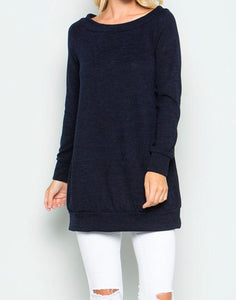 Navy Knit Tunic