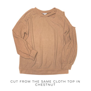 Cut From The Same Cloth Top in Chestnut