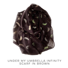 Load image into Gallery viewer, Under My Umbrella Infinity Scarf in Black