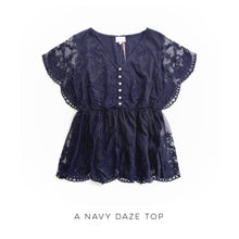 Load image into Gallery viewer, A Navy Daze Top