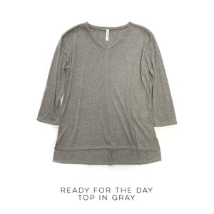 Ready for the Day Top in Gray