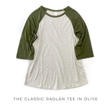 Load image into Gallery viewer, The Classic Raglan Tee in Olive